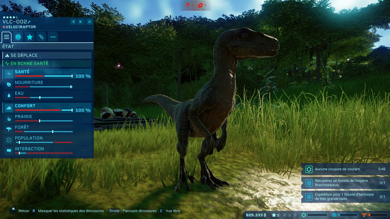 velociraptor Jurassic World Evolution